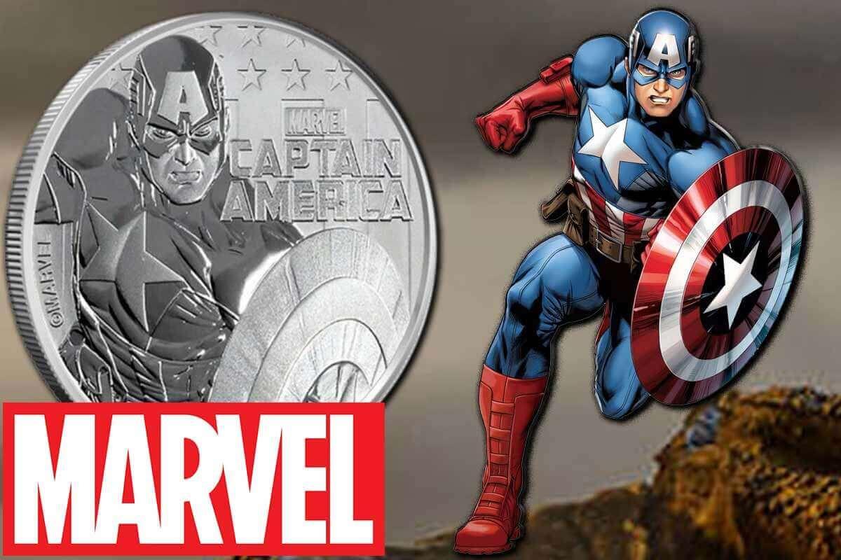 Captain America 2019 - Marvel Silbermünze hier vergleichen