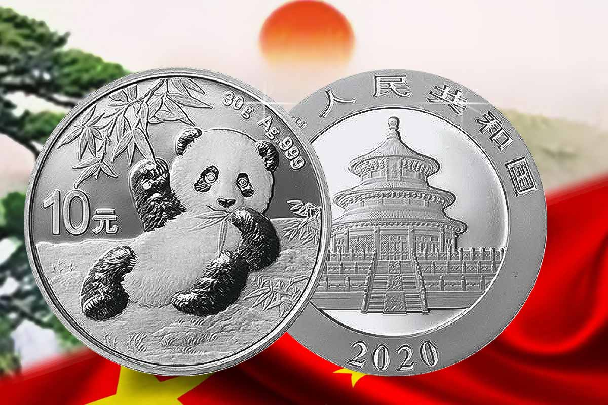 China Panda 2020 Silber - Neues Motiv!