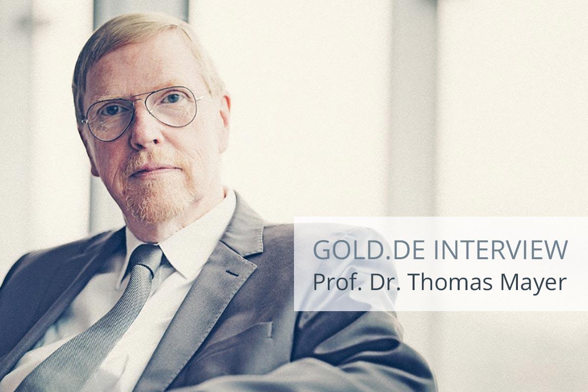 """Dr. Thomas Mayer: """"Fragilität des Finanzsystems erhöht sich"""""""