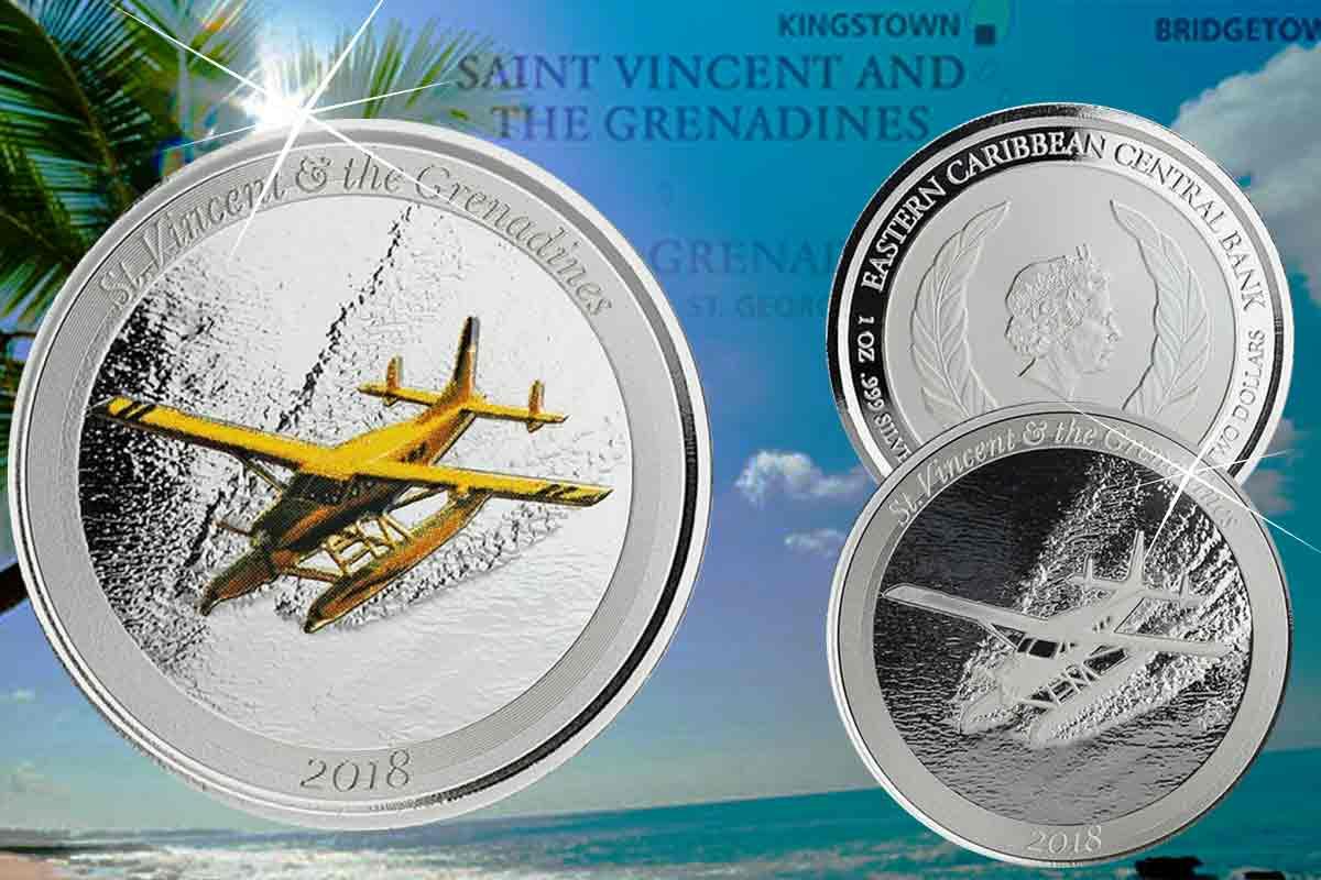 Jetzt da! - EC8 Eastern Caribbean Silber - St. Vincent
