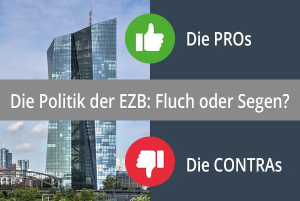 Geldpolitik der EZB: Die PROs, die CONTRAs