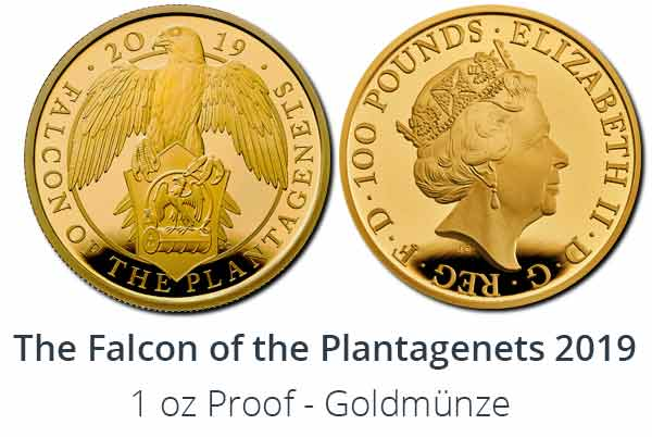 The Falcon of the Plantagenets 2019 Proof Gold