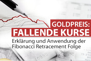 Fallender Goldpreis - Fibonacci Retracement Folge
