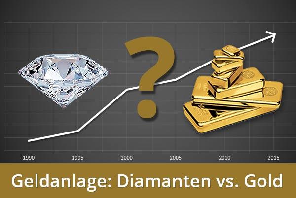 Diamanten oder Gold: Welche Geldanlage ist besser?