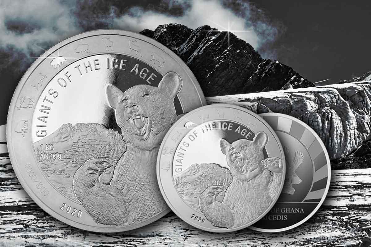 Giants of the Ice Age 2020 Silber - Höhlenbär - Jetzt neue!