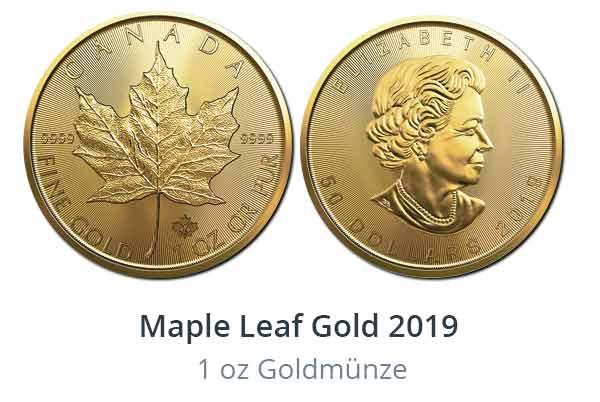 Jetzt erhältlich - Gold Maple Leaf 2019