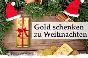 Gold schenken zu Weihnachten