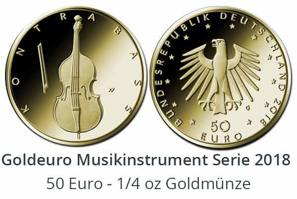 Goldmünzen Serie Musikinstrumente 2018 - Goldeuro 1/4 oz