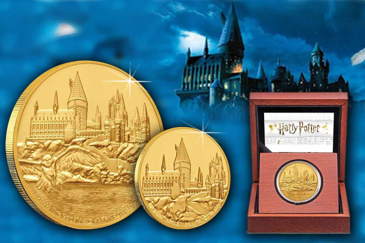Harry Potter Goldmünzen - Hogwarts Castle Proof - Neue Serie