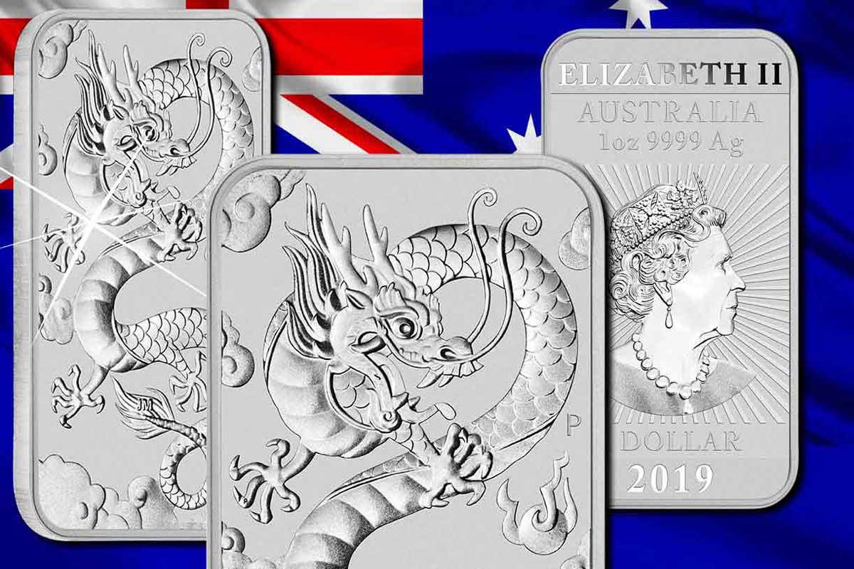 Hier erhältlich! 2019 Dragon Rectangle Silber