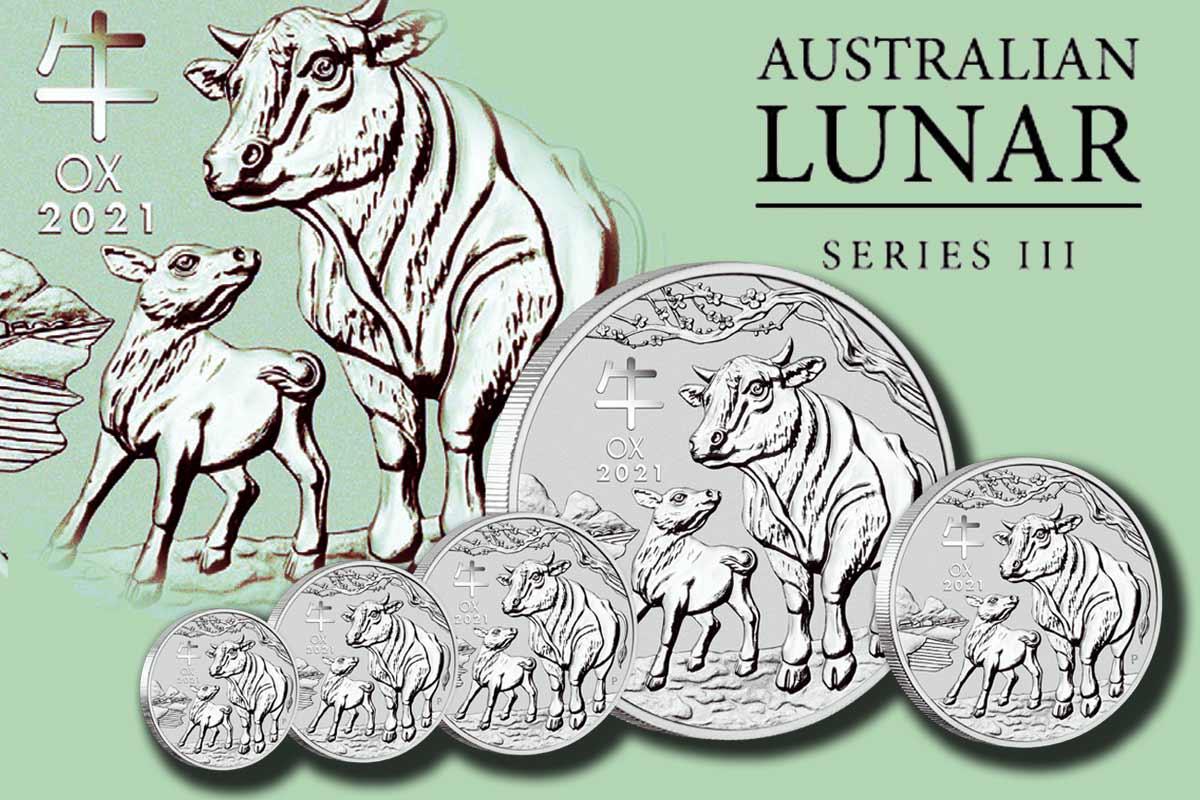 Lunar III Silber Ochse 2021 - Jetzt Bullionmünzen vergleichen