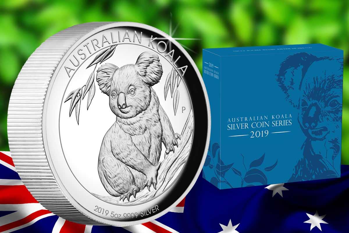 Koala 2019 Silber 5 oz Proof High Relief - jetzt für Silbersammler!