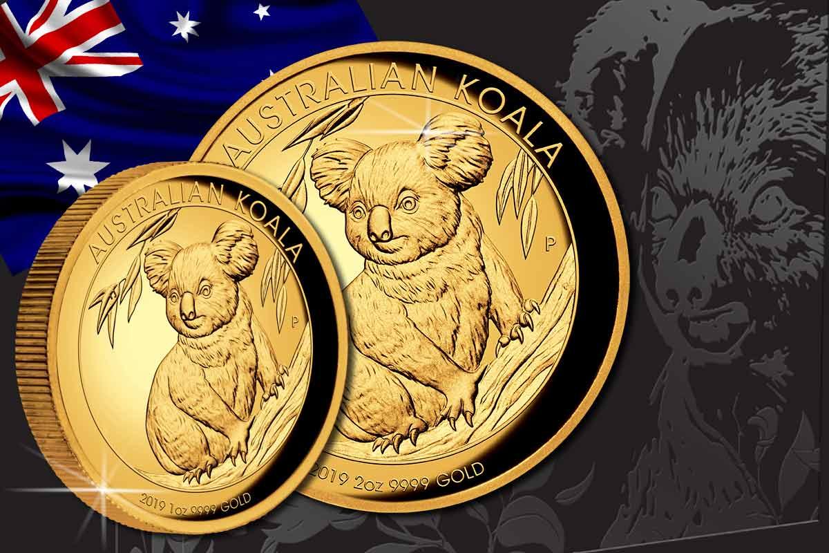 Jetzt hier! Koala 2019 Gold 1 oz und 2 oz High Relief