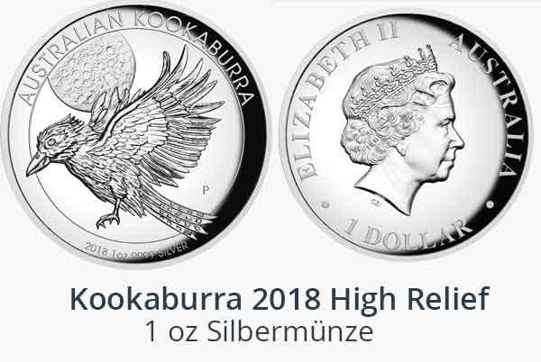 1 oz Kookaburra High Relief