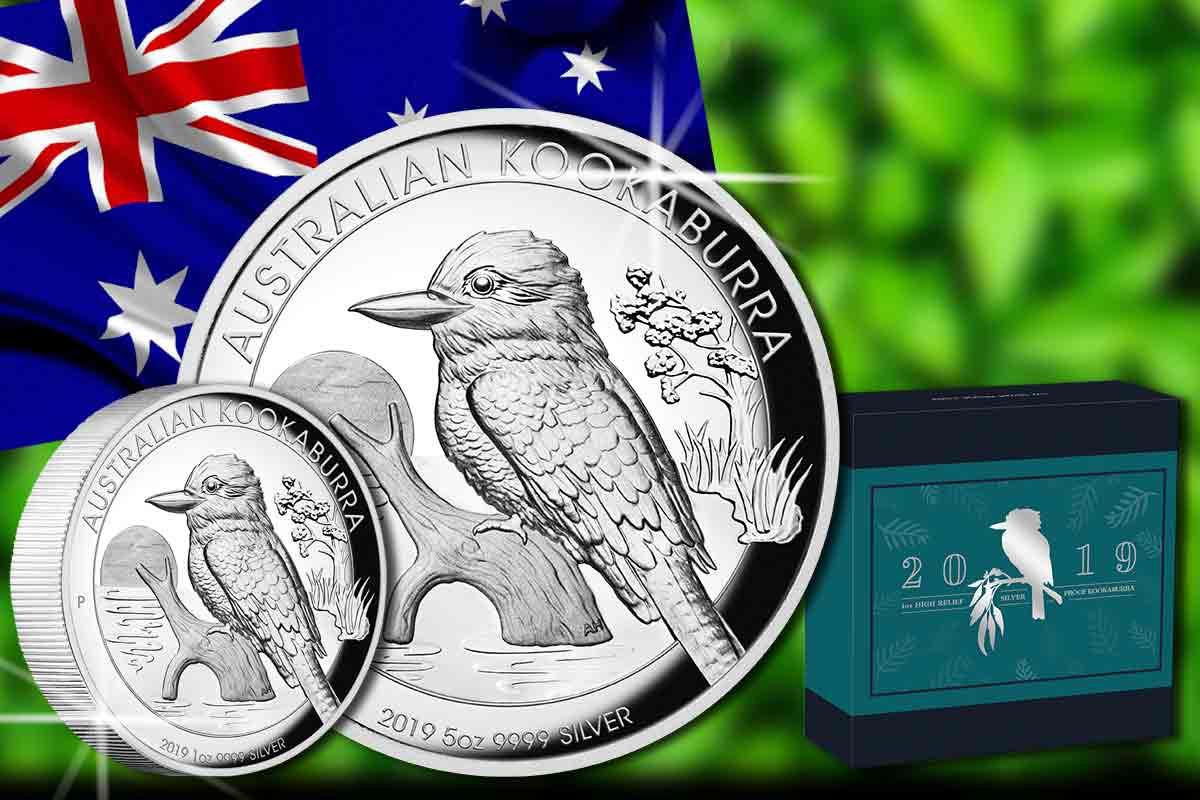 Kookaburra 2019 Proof High Relief als 1 oz und 5 oz ist da!