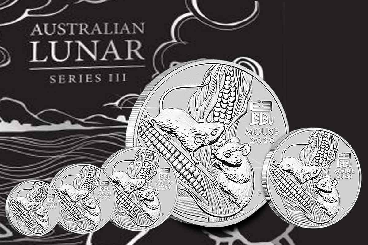 Jetzt neue Serie! Lunar III Maus 2020 Silber
