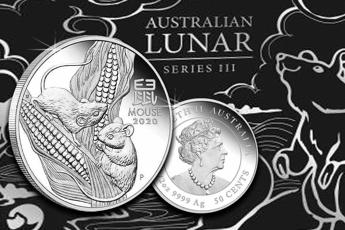 Neu hier! Lunar III Maus 2020 Silber Proof
