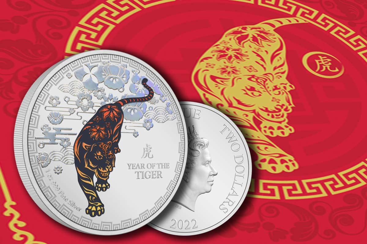 Lunar Niue 2022 Silber: Year of the Tiger Colour jetzt vergleichen!