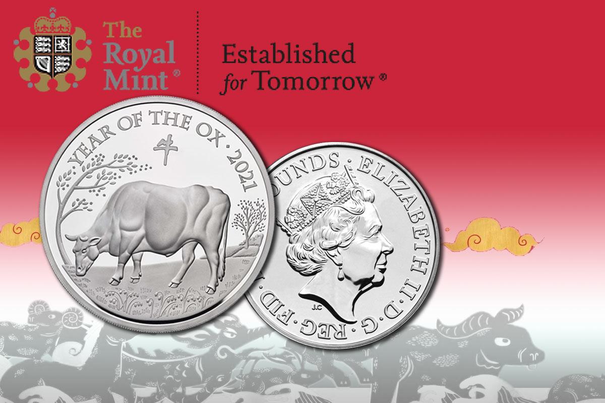 Lunar UK Silber - Ochse 2021 PP - Jetzt erhältlich!