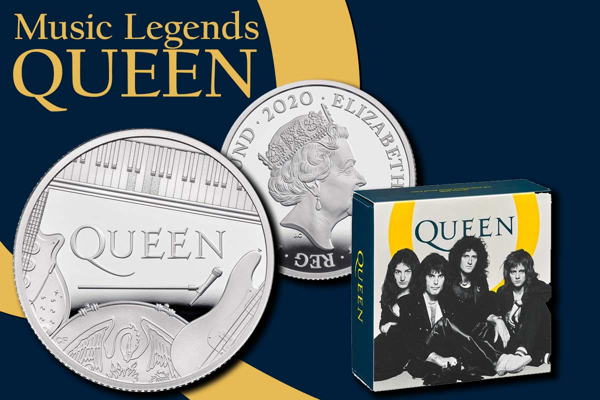 Music Legends: Queen 2020 Silber - Neue Serie der Royal Mint