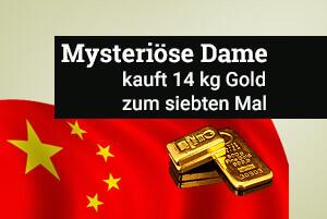 Mysteriöse Dame kauft 14 kg Gold - zum siebten Mal