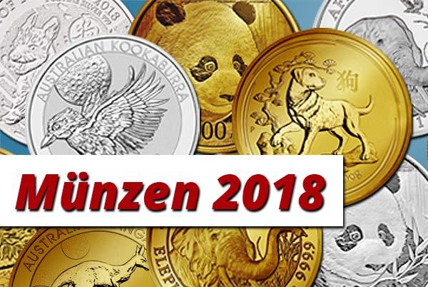 Neue Münzen 2018