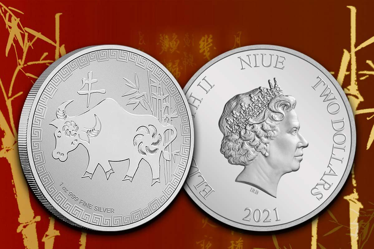Niue Lunar - Ochse 2021 Silber: Jetzt neu!