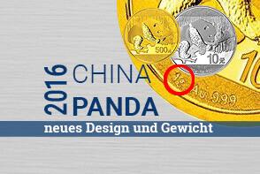 China Panda 2016 - PBOC stellt neues Design und Gewicht