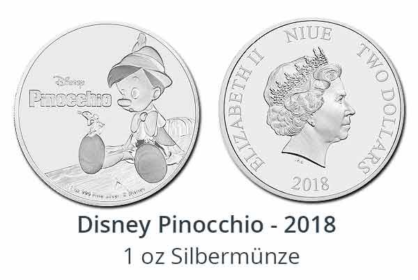 Disney 2018 - Pinocchio 1 oz Silber