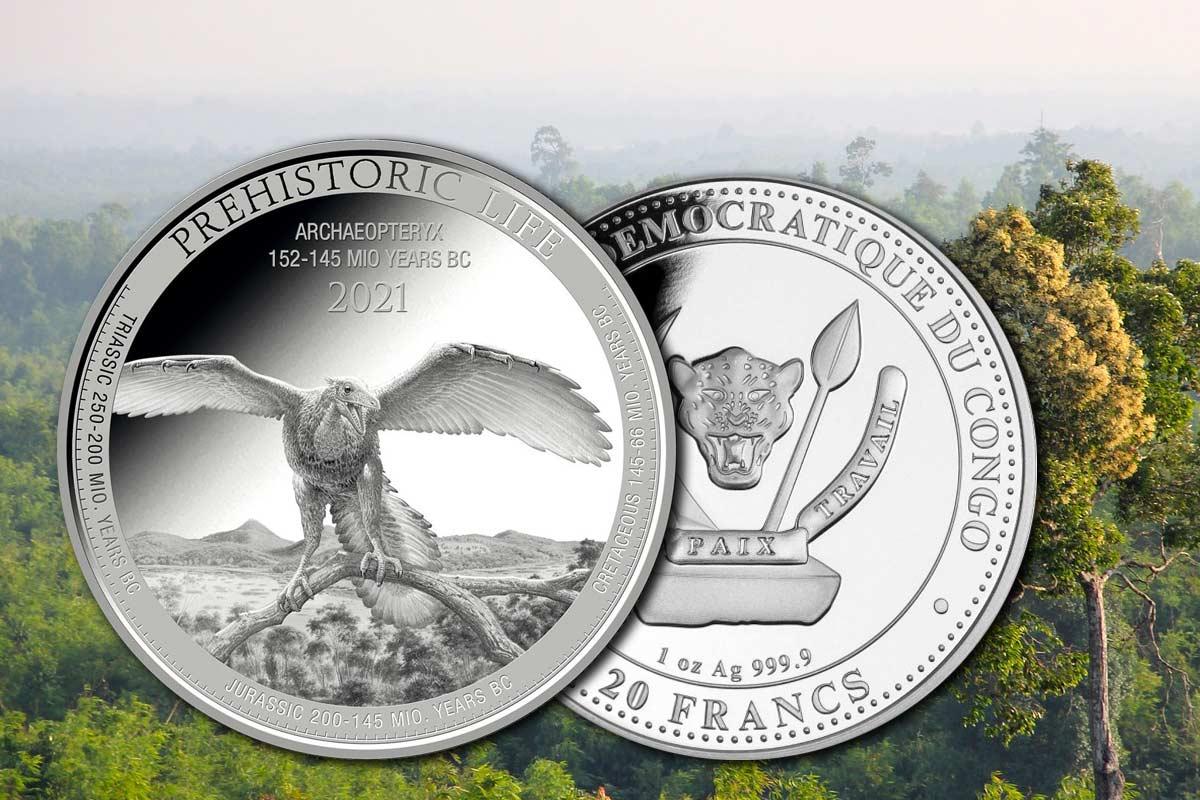 Prehistoric Life Silber 2021: Neues Motiv Archaeopteryx ist da!