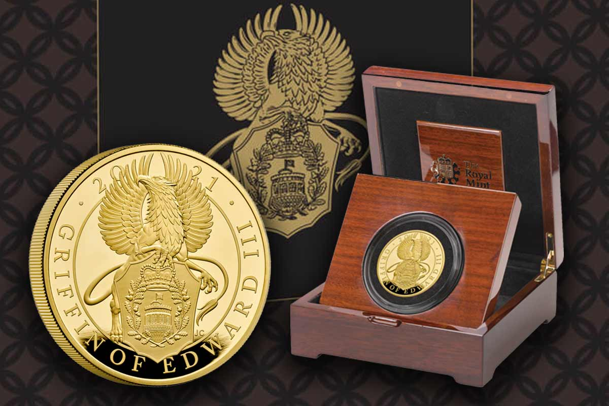 The Queen's Beasts Gold 5 oz Proof - Griffin of Edward III. - Jetzt da!