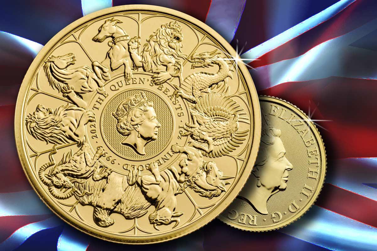 Completer Coin 2021 - Queens Beasts in Gold - Jetzt erhältlich!