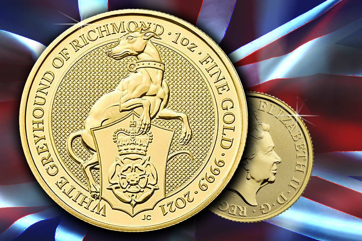 The Queen's Beasts Gold - White Greyhound of Richmond 2021
