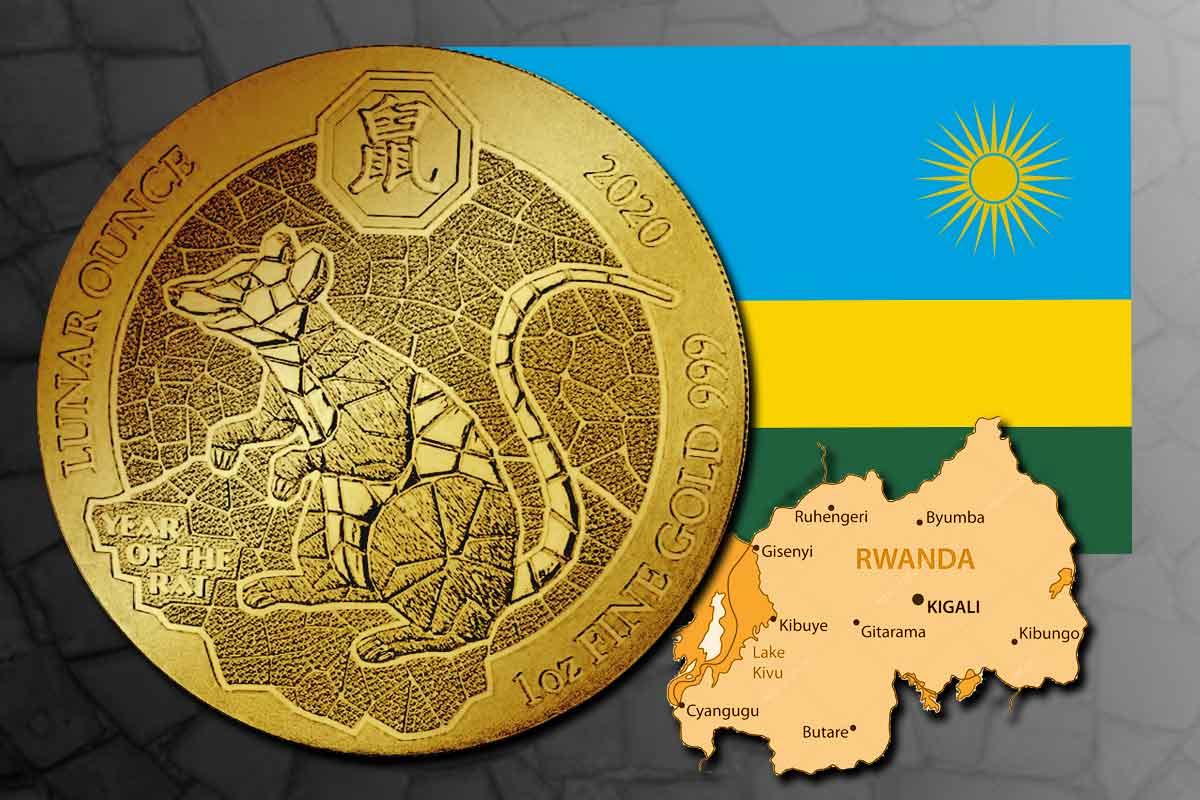 Ruanda Lunar Ratte 2020 Gold - Neu im Preisvergleich