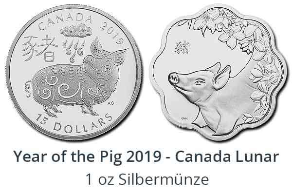 Year of the Pig 2019 - Silber Canada Lunar