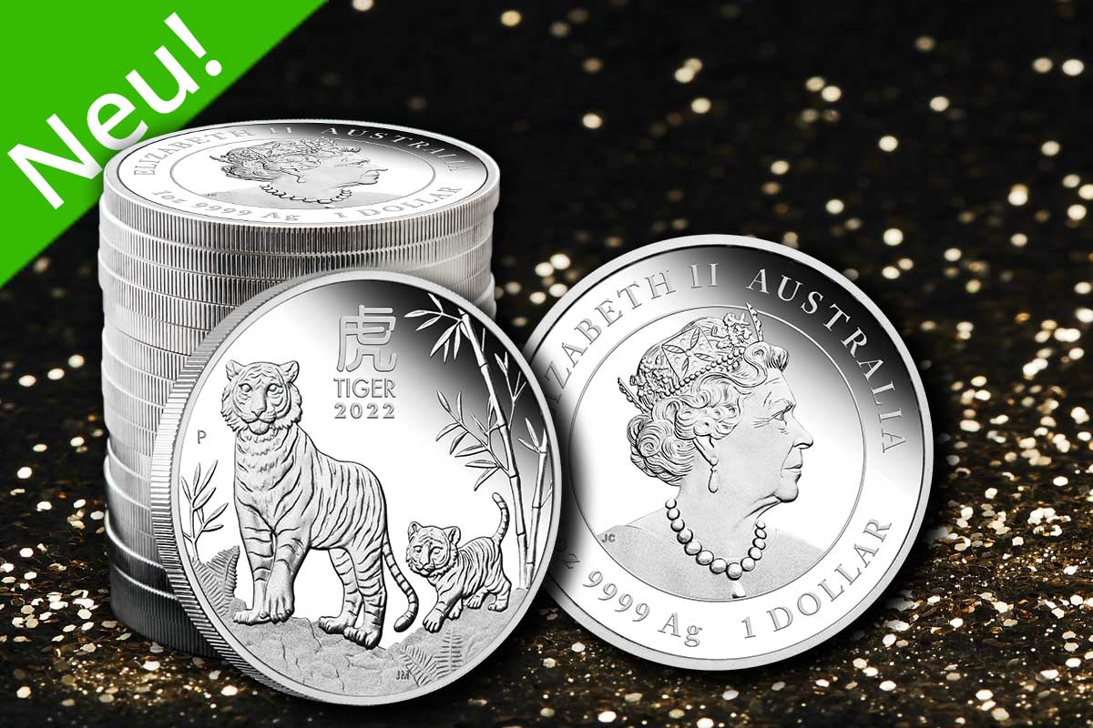 Lunar III Silber 2022 Tiger in Proof - Neues Motiv