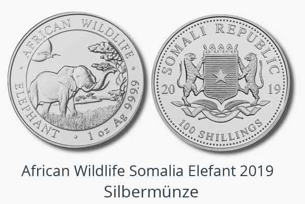 10 oz und 2 oz Somalia Elefant 2019