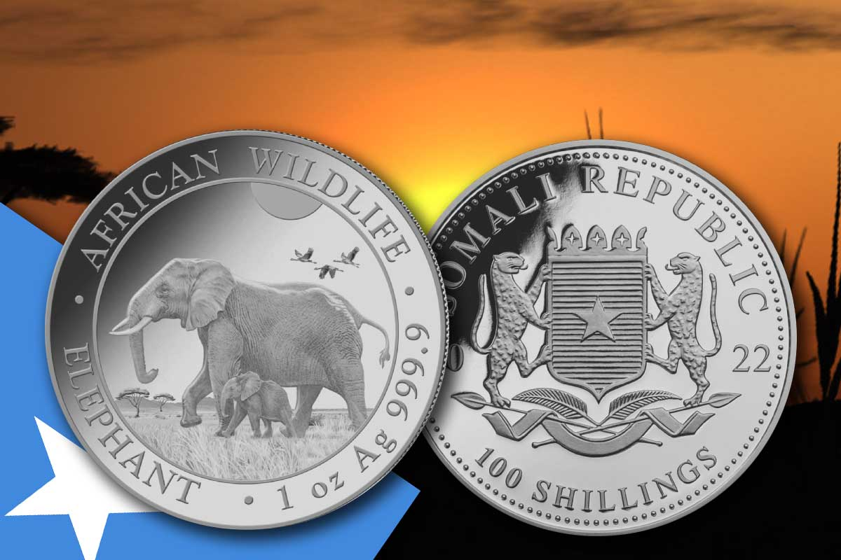 Somalia Elefant 2022 Silber: Jetzt neues Motiv!