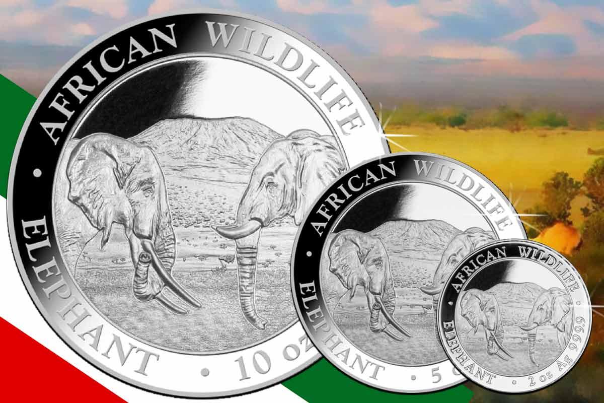 Somalia Elefant Silber jetzt in 10 oz, 5 oz und 2 oz hier erhältlich!