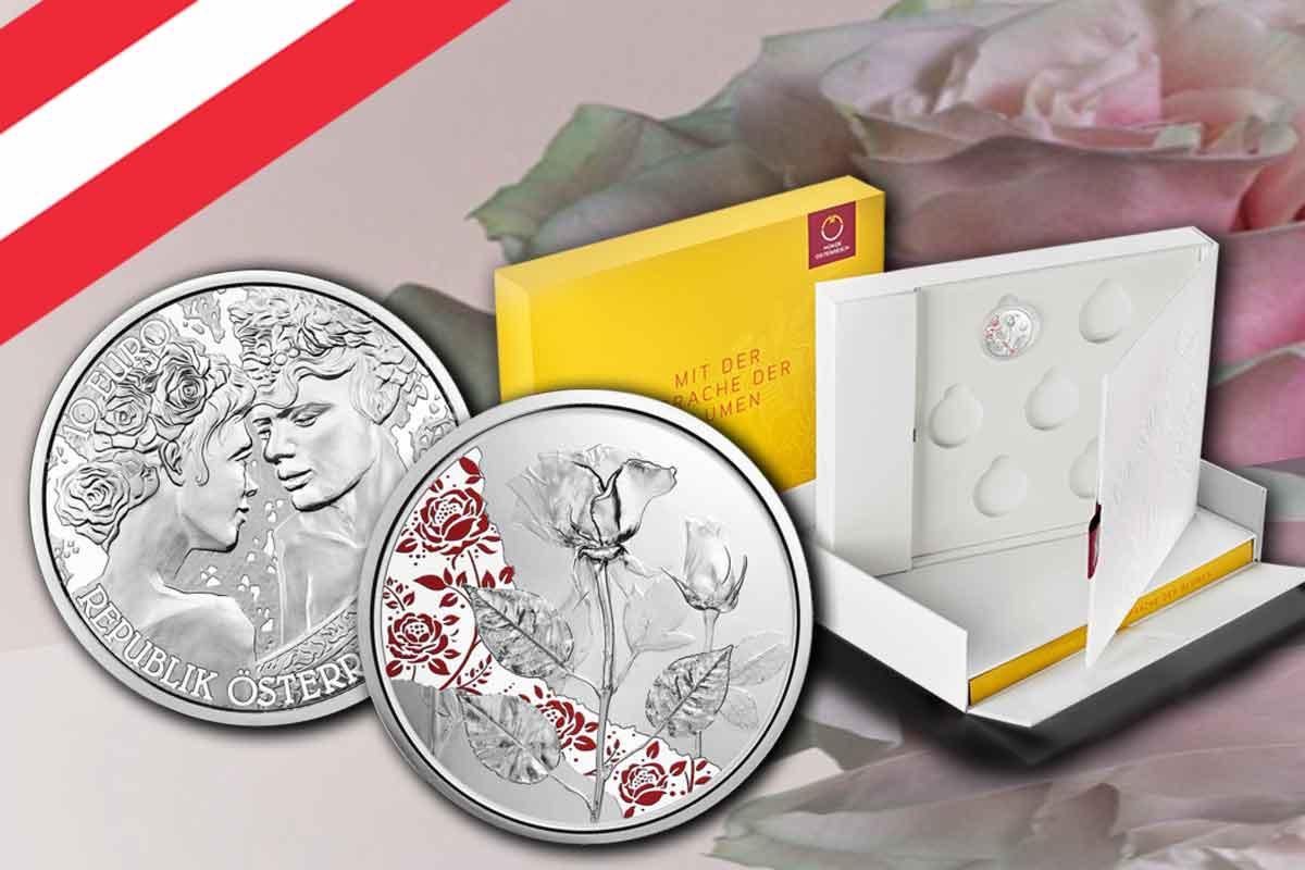 10 Euro Rose 2021 Silber - Neue Serie - Mit der Sprache der Blumen