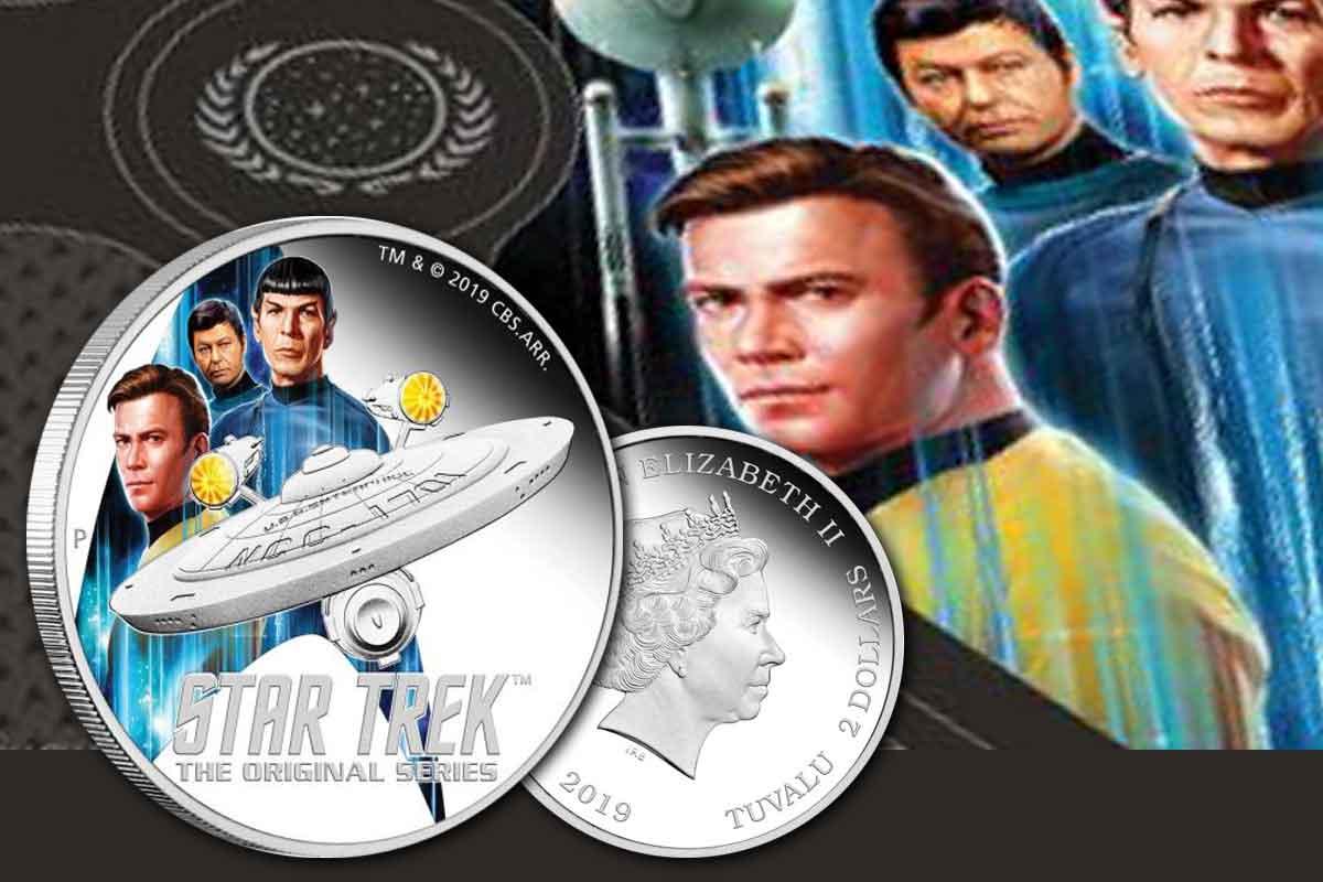 Neu Star Trek U.S.S. Enterprise & Crew 2019 2 oz Silber Proof