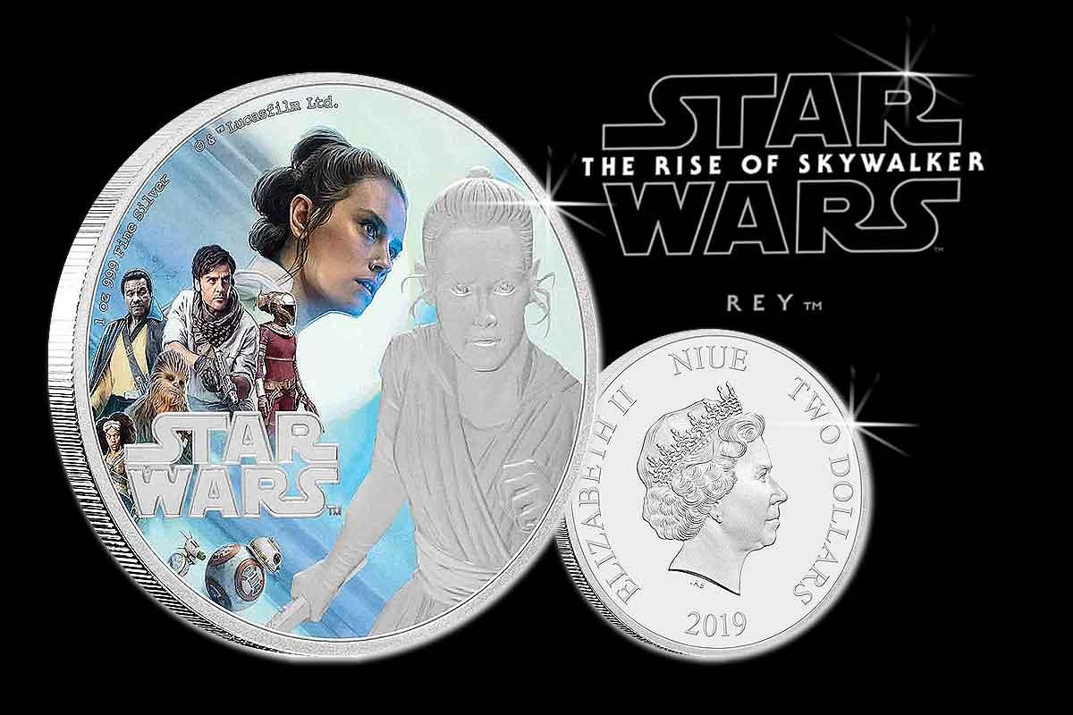 Neu Star Wars: Der Aufstieg Skywalkers – Rey 2019 Silber