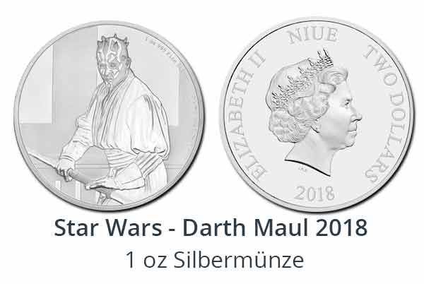 Star Wars Classic: Darth Maul 1 oz Silbermünze