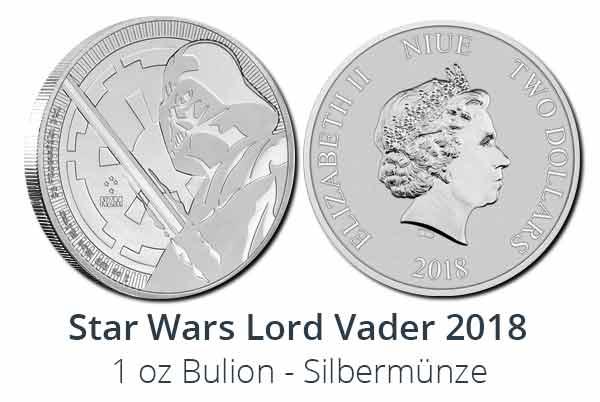Darth Vader 2018 Silbermünze