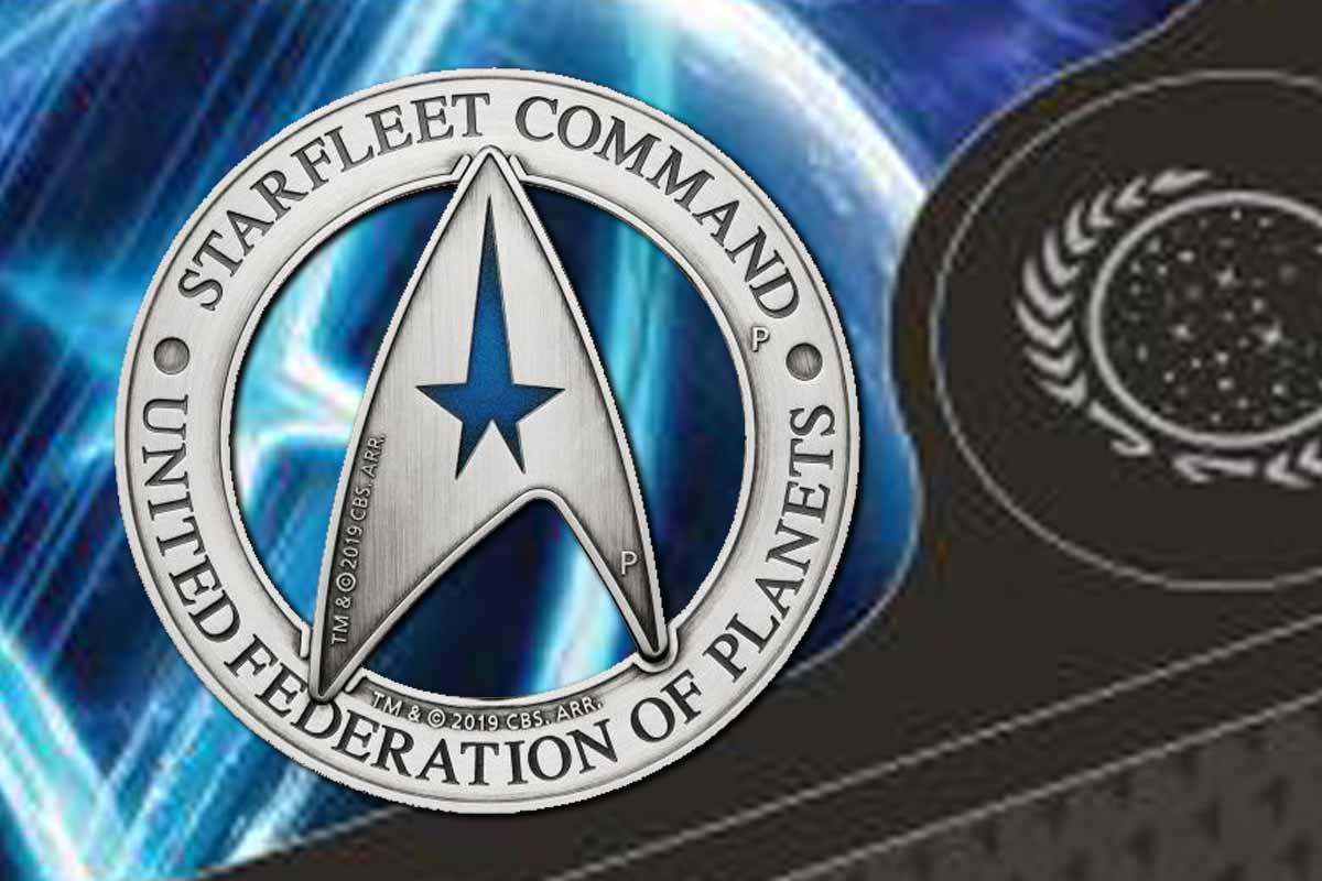 Starfleet Command Emblem 2019 3 oz Silber - Neu hier!