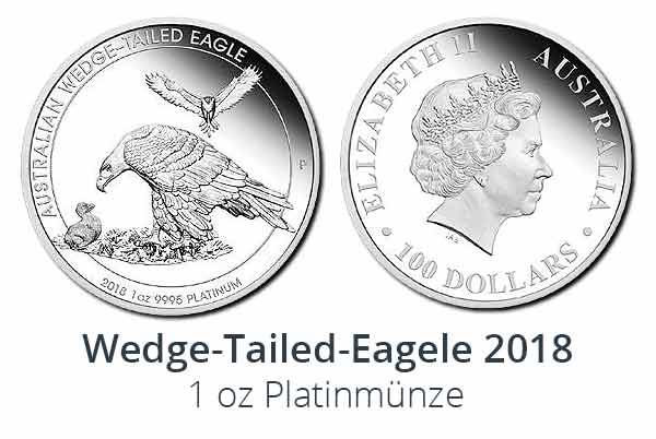 Wedge-Tailed Eagle 2018 Proof Platinmünze