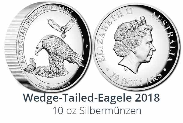 10 oz Silber Wedge-Tailed-Eagle 2018 High Relief