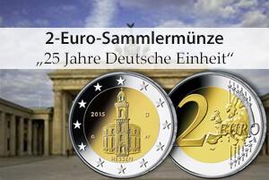 Zwei-Euro Gedenkmünzen zur Deutschen Einheit gehen in Umlauf