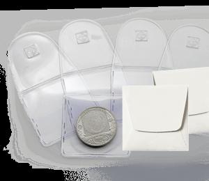 Münztaschen aus Kunststoff und Papier