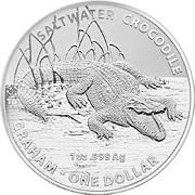Thumb Salzwasser Krokodil (RAM) Silbermünze